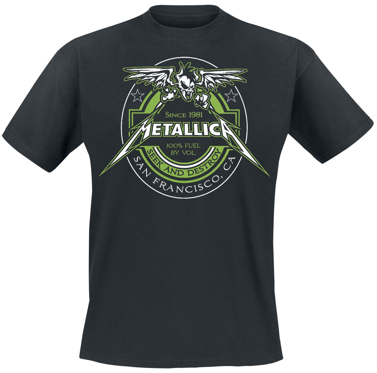 Image of   Metallica 100% Fuel - Seek And Destroy T-Shirt sort
