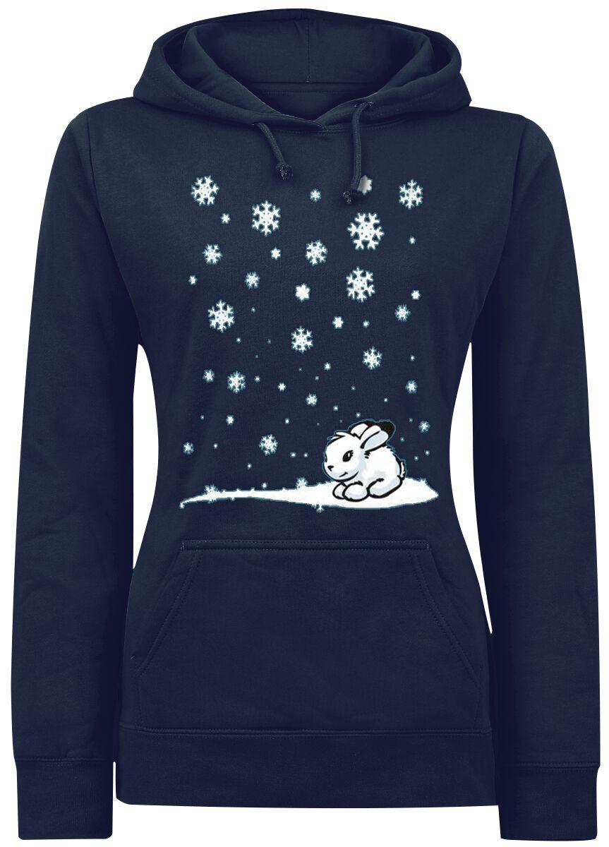 Image of   Snow Bunny Girlie hættetrøje mørk blå