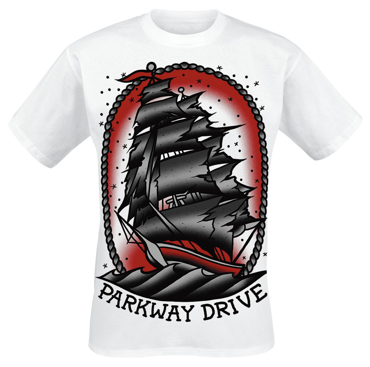 Image of   Parkway Drive Ship T-Shirt hvid