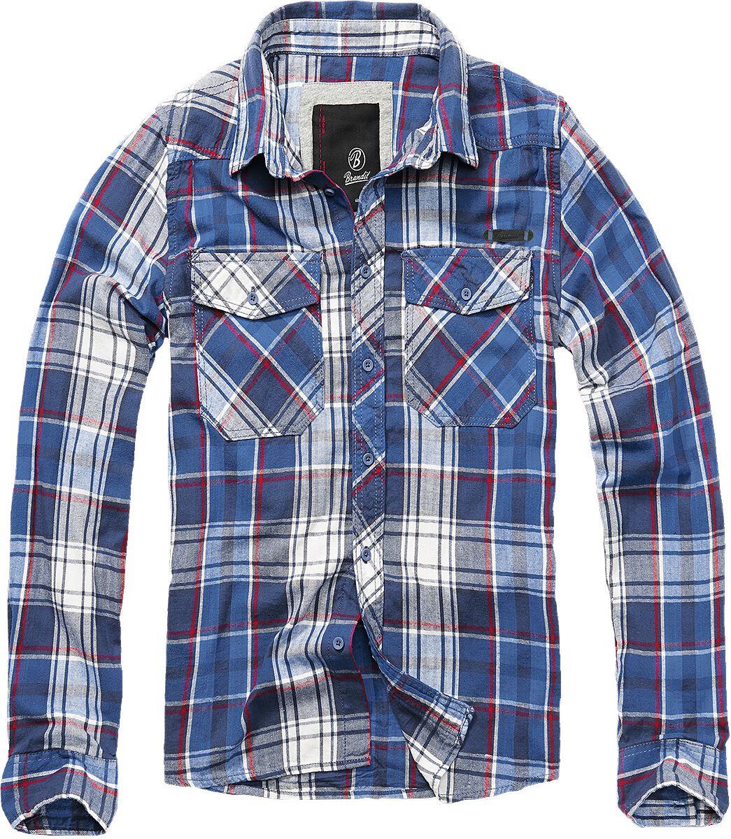 Image of   Brandit Checkshirt Skjorte blå-rød-hvid