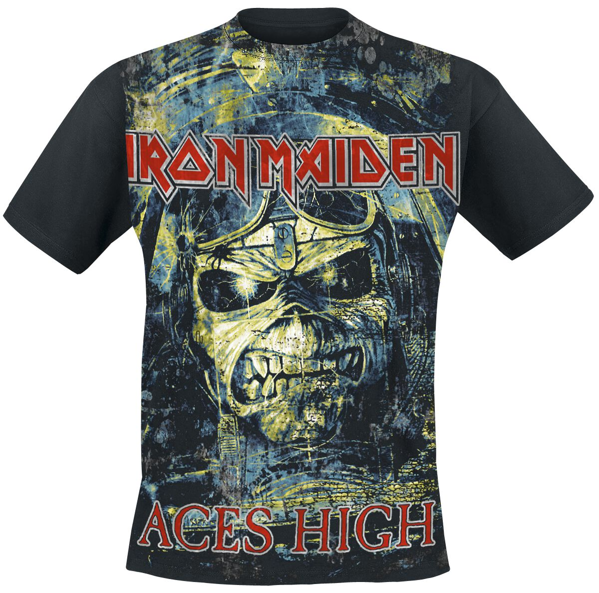 Image of   Iron Maiden Aces High T-Shirt sort