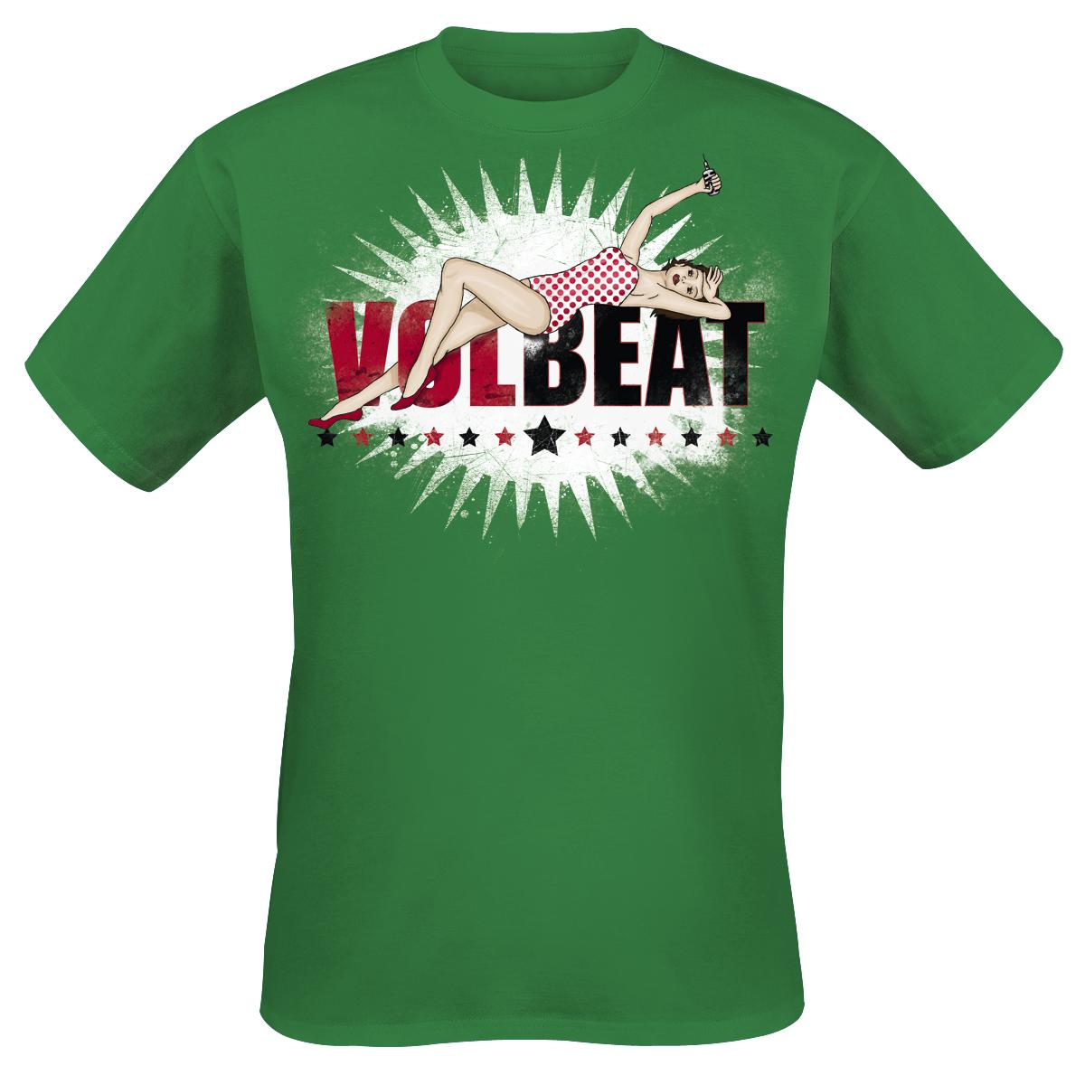 Volbeat - Pin Up Logo - T-Shirt - green image