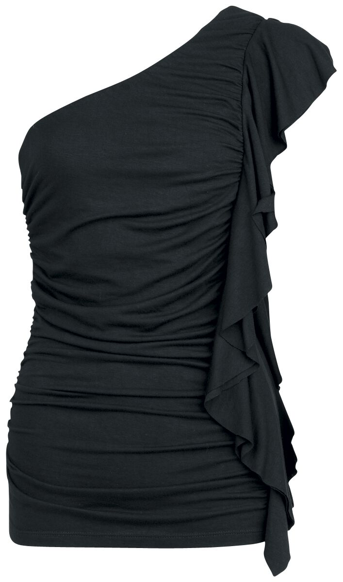 Basics - Topy - Top One Shoulder Fashion Victim Gathered Top Top One Shoulder czarny - 216559