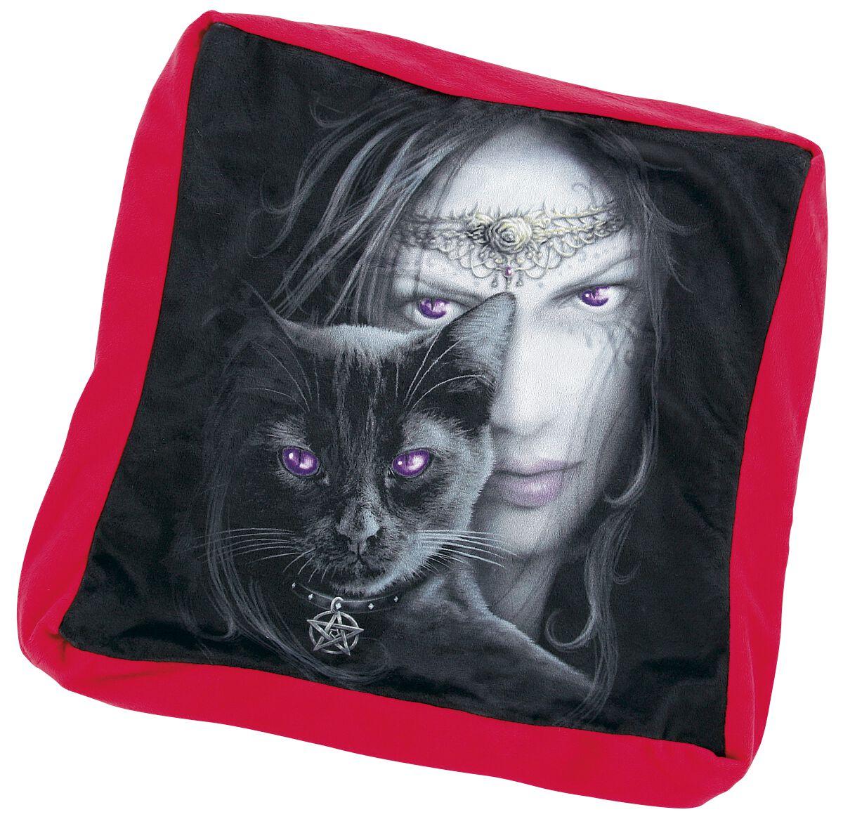 Image of   Spiral Cats Eyes Dekorationspude sort-rød