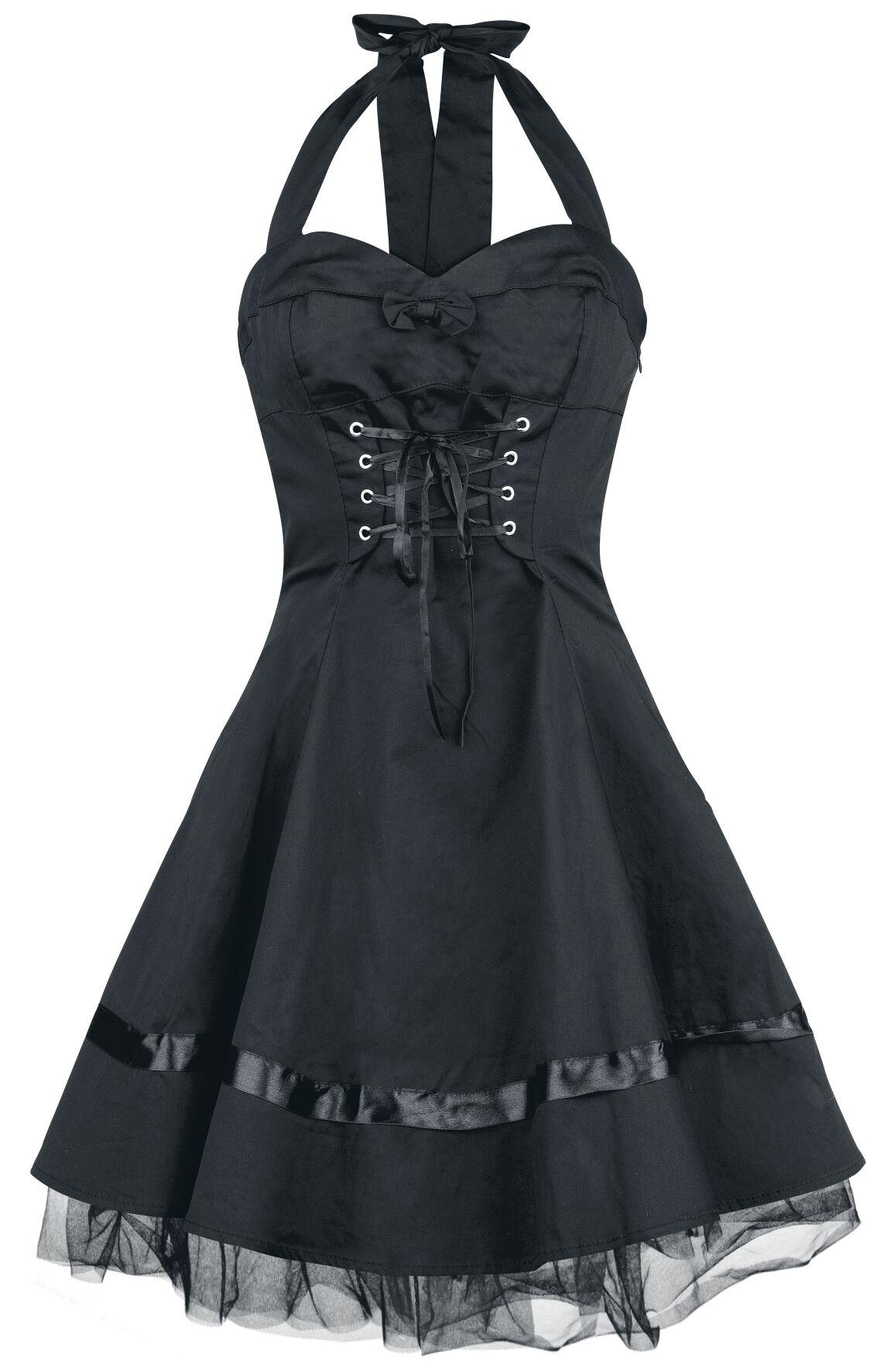H&R London Lace Cotton Dress Sukienka czarny