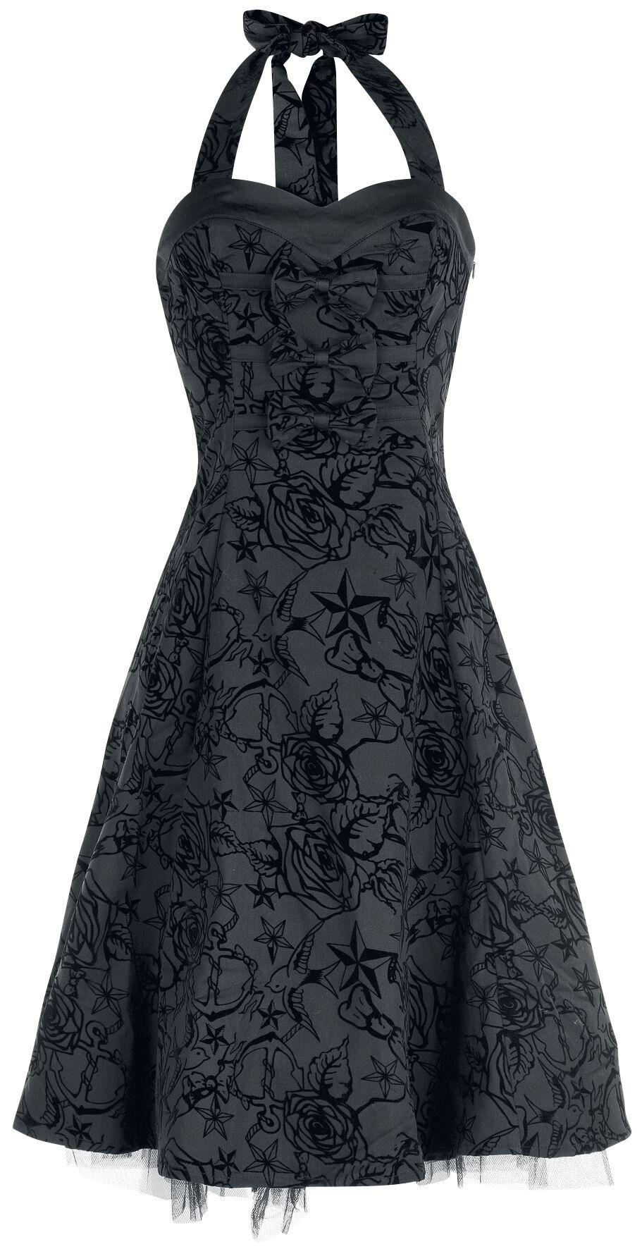 H&R London Longue tattoo Dress Sukienka czarny