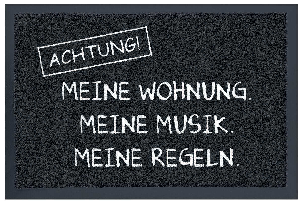 Achtung! Meine Wohnung. Meine Musik. Meine Rege...