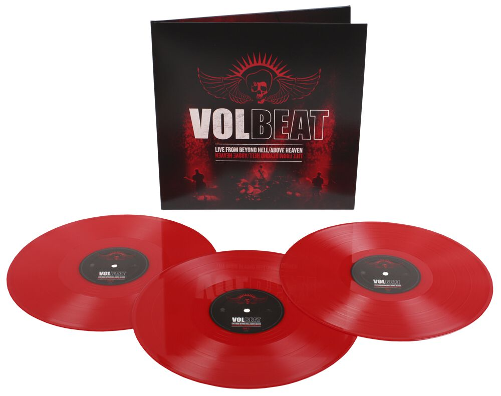 Image of   Volbeat Live from beyond hell / Above heaven 3-LP rød