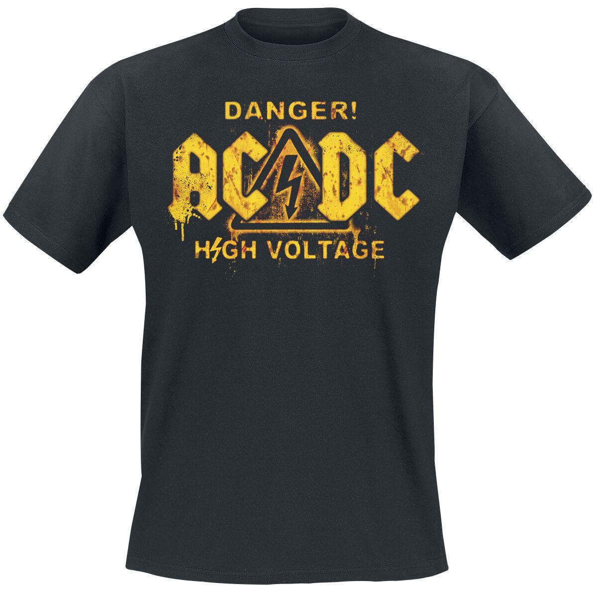 Image of   AC/DC Danger! - High Voltage T-Shirt sort
