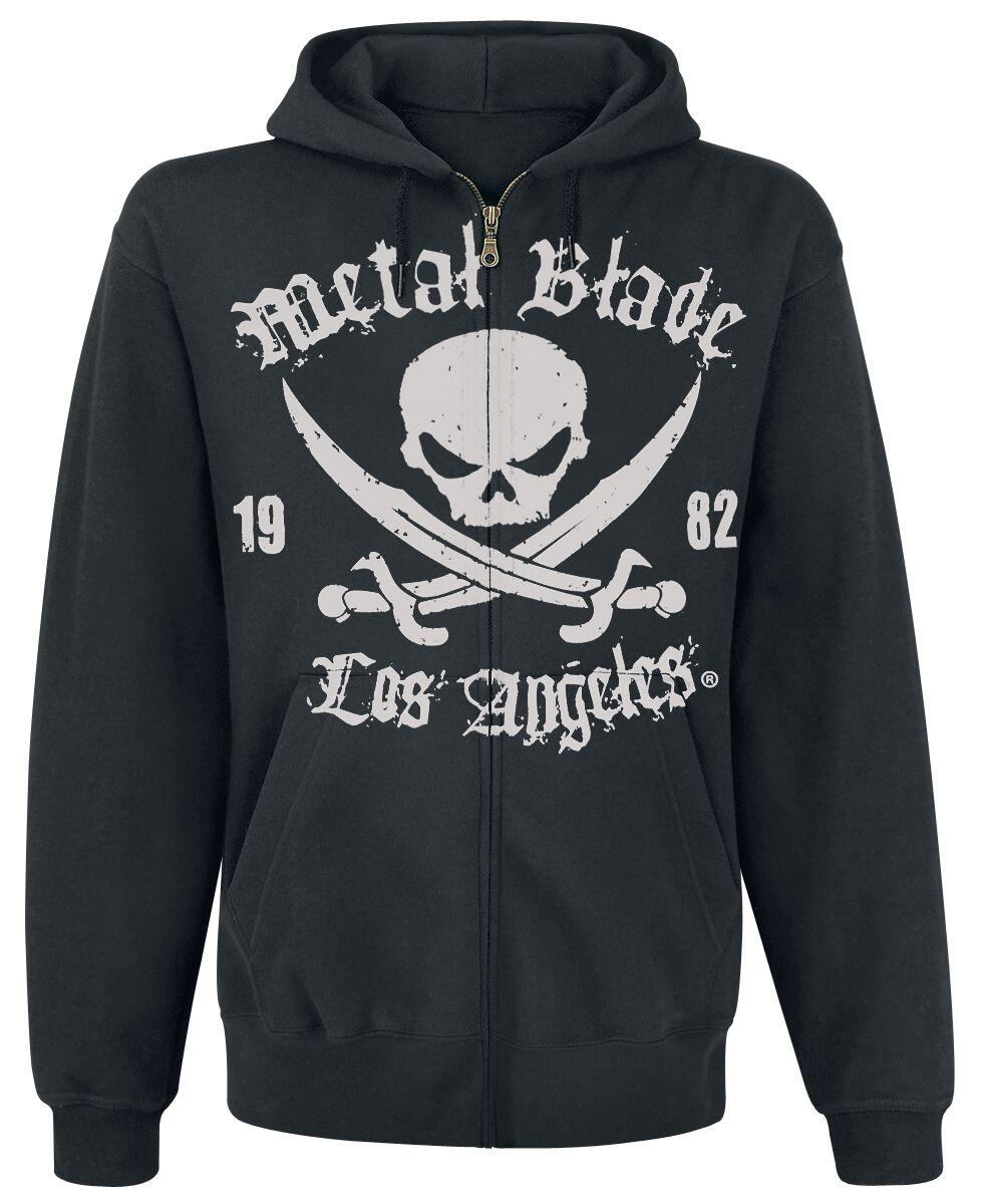 Zespoły - Bluzy z kapturem - Bluza z kapturem rozpinana Metal Blade Pirate Logo Bluza z kapturem rozpinana czarny - 225149