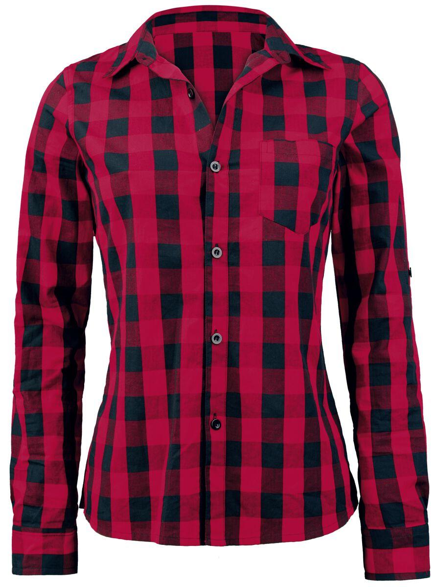 Image of   Forplay Checkered Girlie Skjorte rød-sort