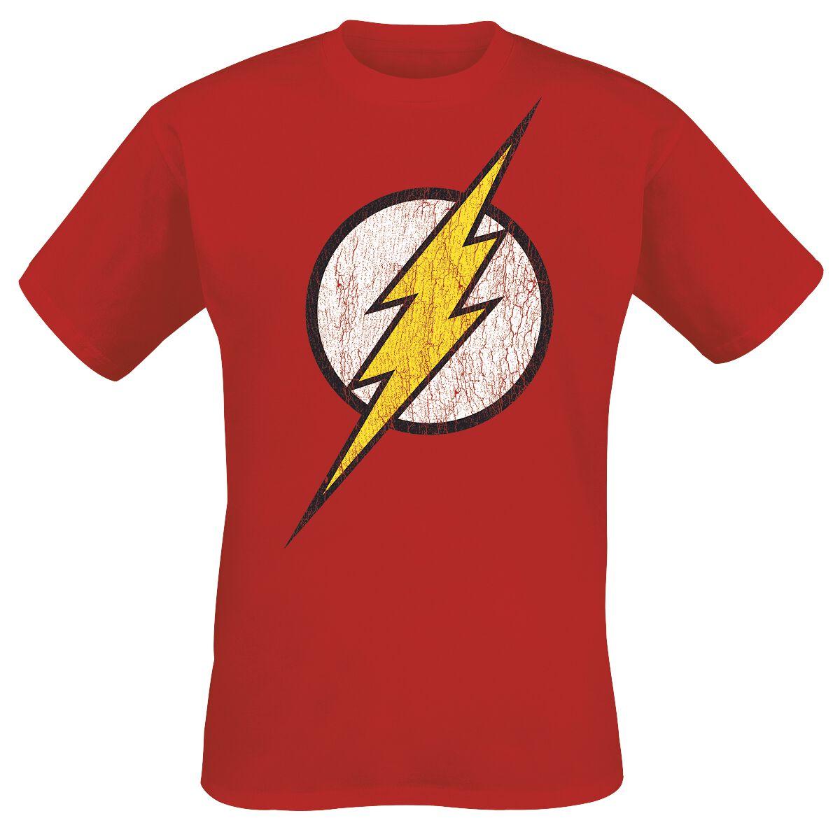 Merch dla Fanów - Koszulki - T-Shirt The Flash Logo T-Shirt czerwony - 227706