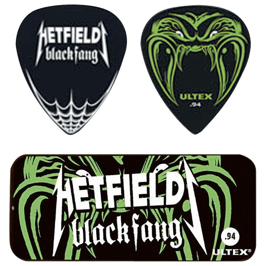 Image of   Metallica Dunlop - Hetfield Black Fang Pick Tin Plekter sort