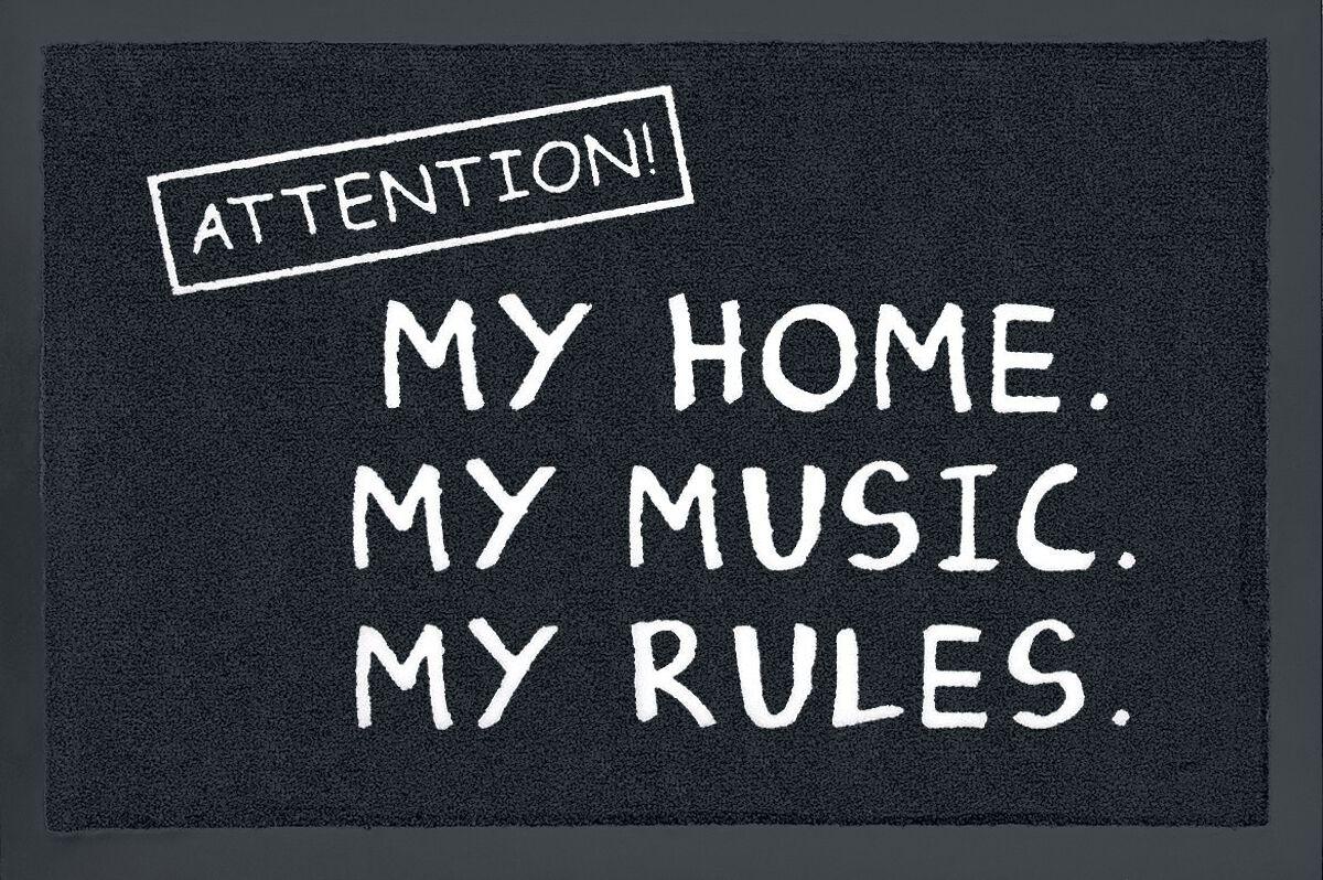 Attention! My home. My music. My rules. Fußmatt...