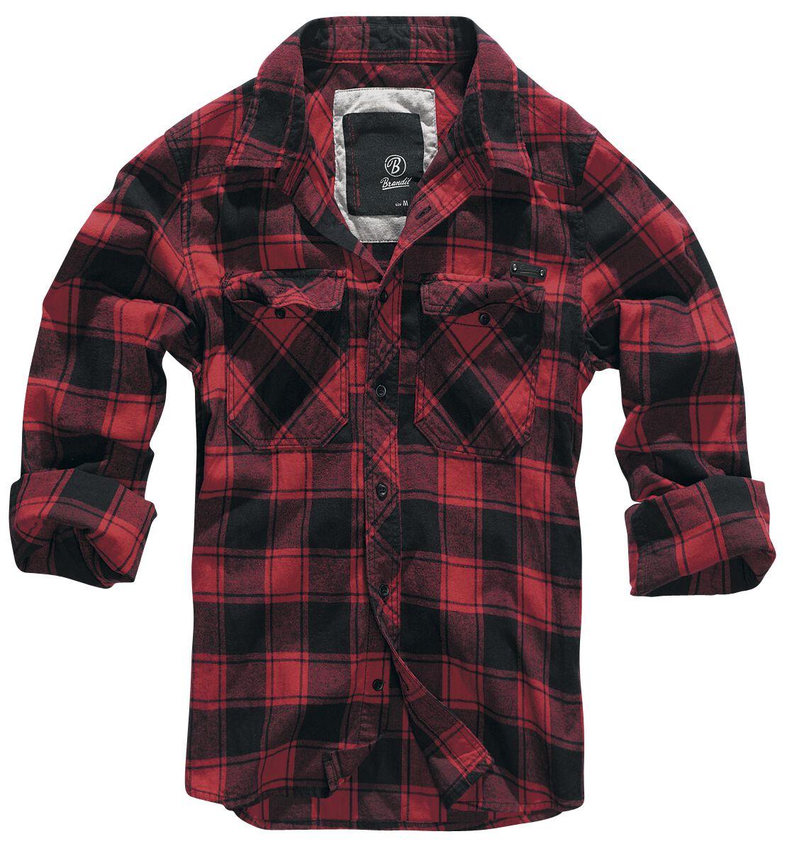 Image of   Brandit Checkshirt Skjorte rød-sort