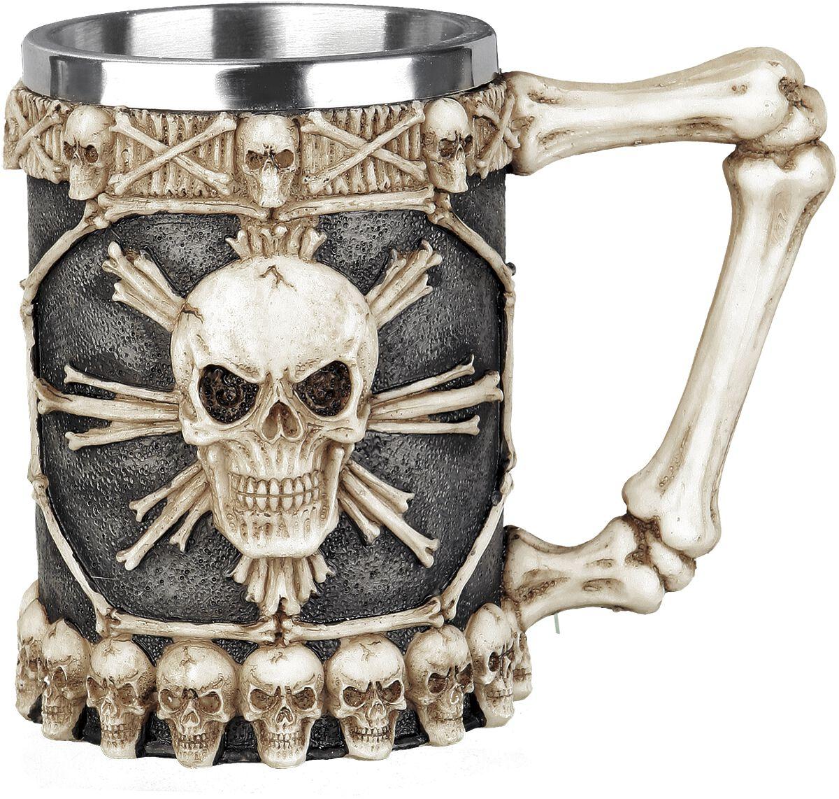Image of   Nemesis Now Tankard of skulls Ølkrus sort