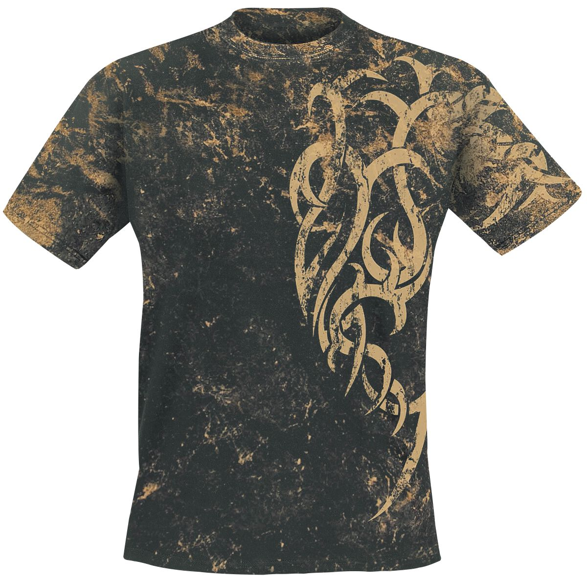 Image of   Outer Vision Marble Tattoo T-Shirt sort
