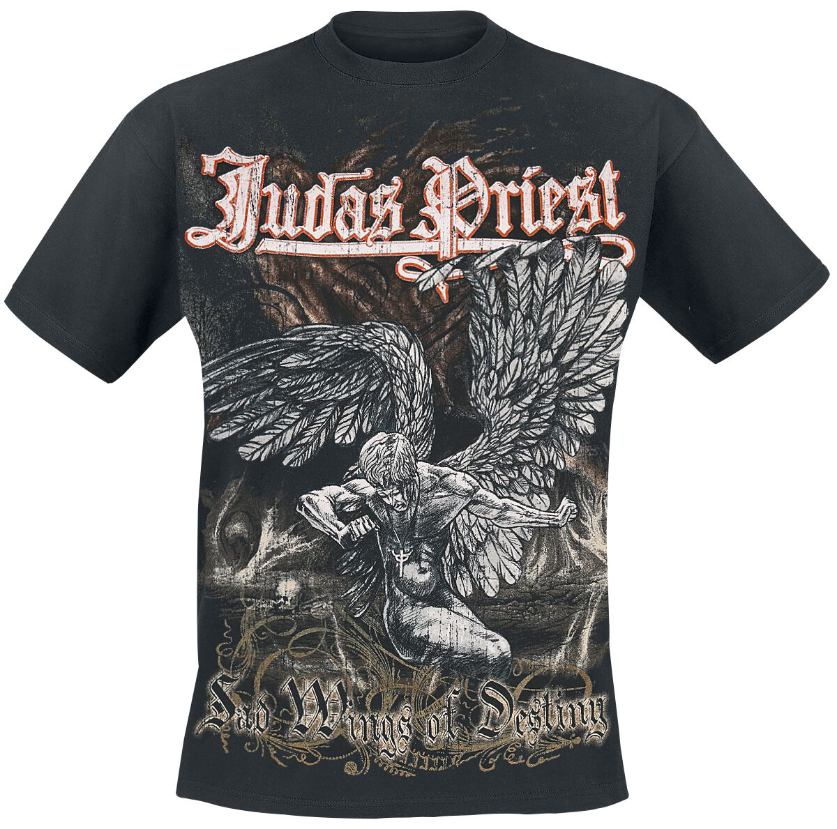 Image of   Judas Priest Sad Wings T-Shirt sort