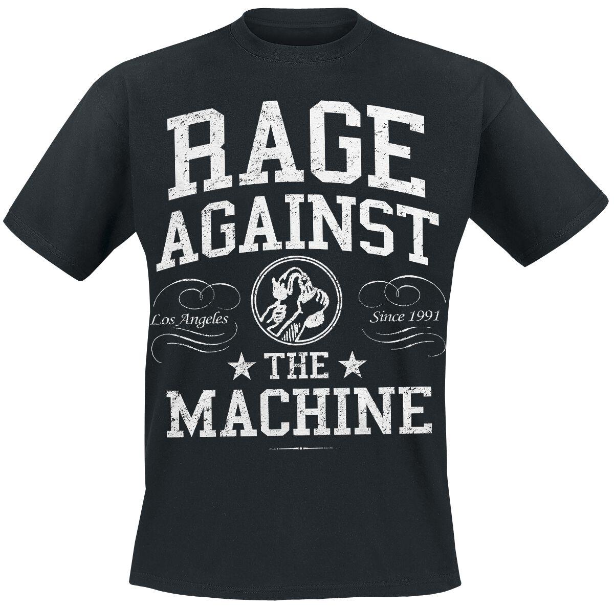 Zespoły - Koszulki - T-Shirt Rage Against The Machine College T-Shirt czarny - 231687