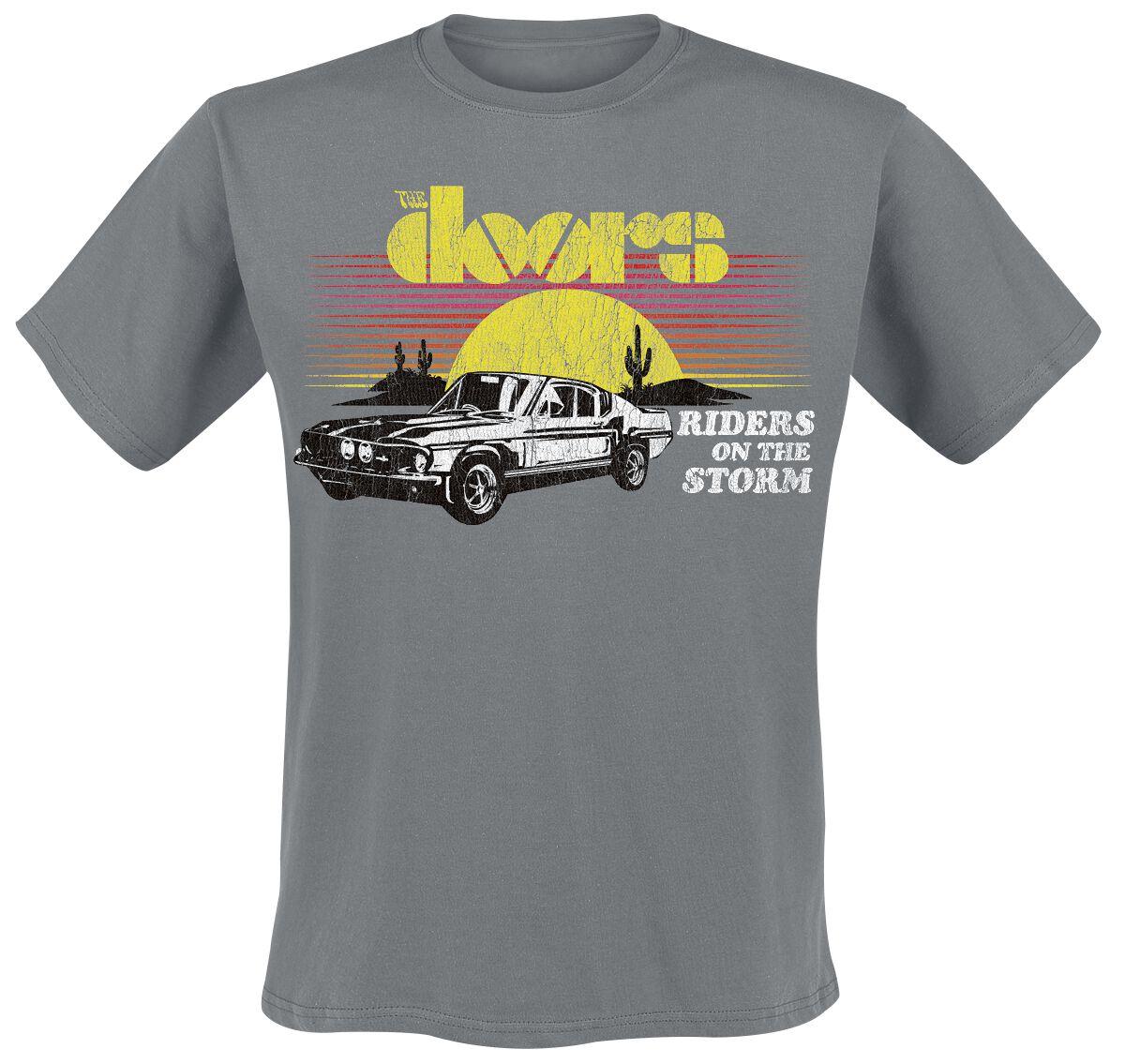 Zespoły - Koszulki - T-Shirt The Doors Riders On The Storm T-Shirt ciemnoszary - 231704