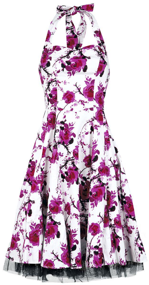 Image of   H&R London Pink Floral Dress Kjole hvid-pink