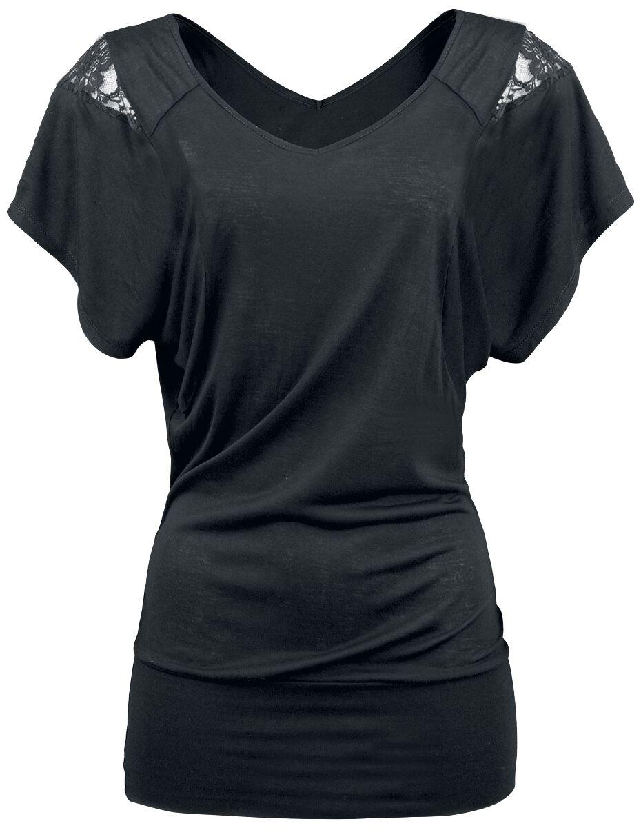 Image of   Fashion Victim Laced Shoulder Girlie trøje sort