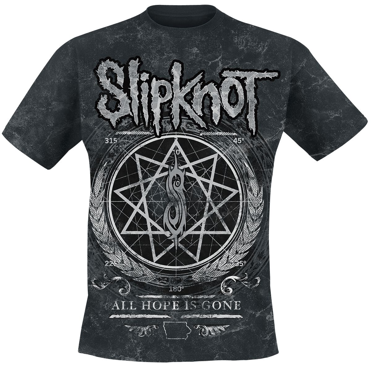 Image of   Slipknot Blurry Allover T-Shirt sort