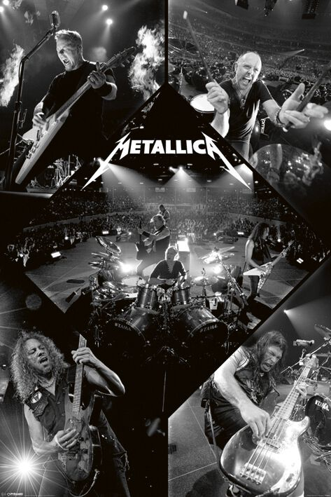 Image of   Metallica Live Plakat multifarvet
