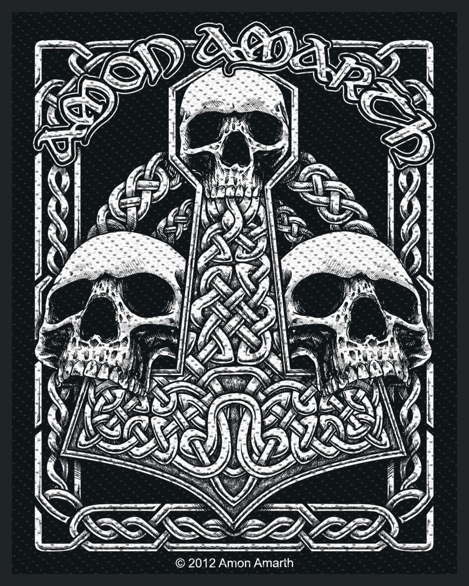 Image of   Amon Amarth Three Skulls Patch Standard