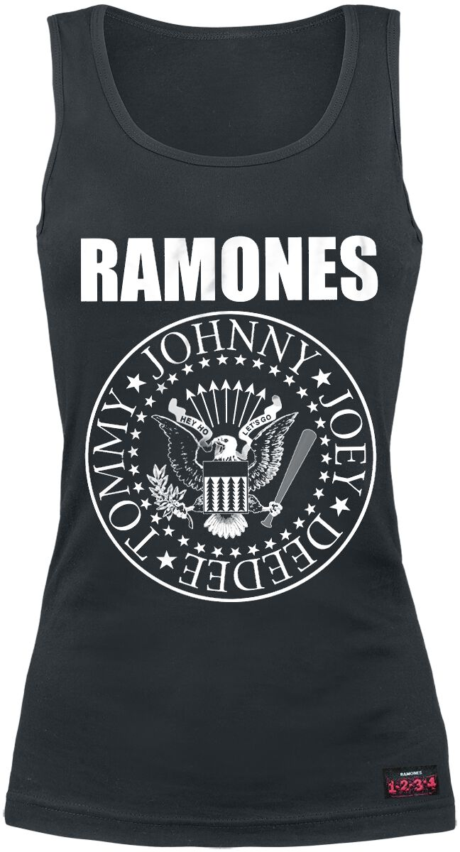 Ramones Seal Girl-Top schwarz