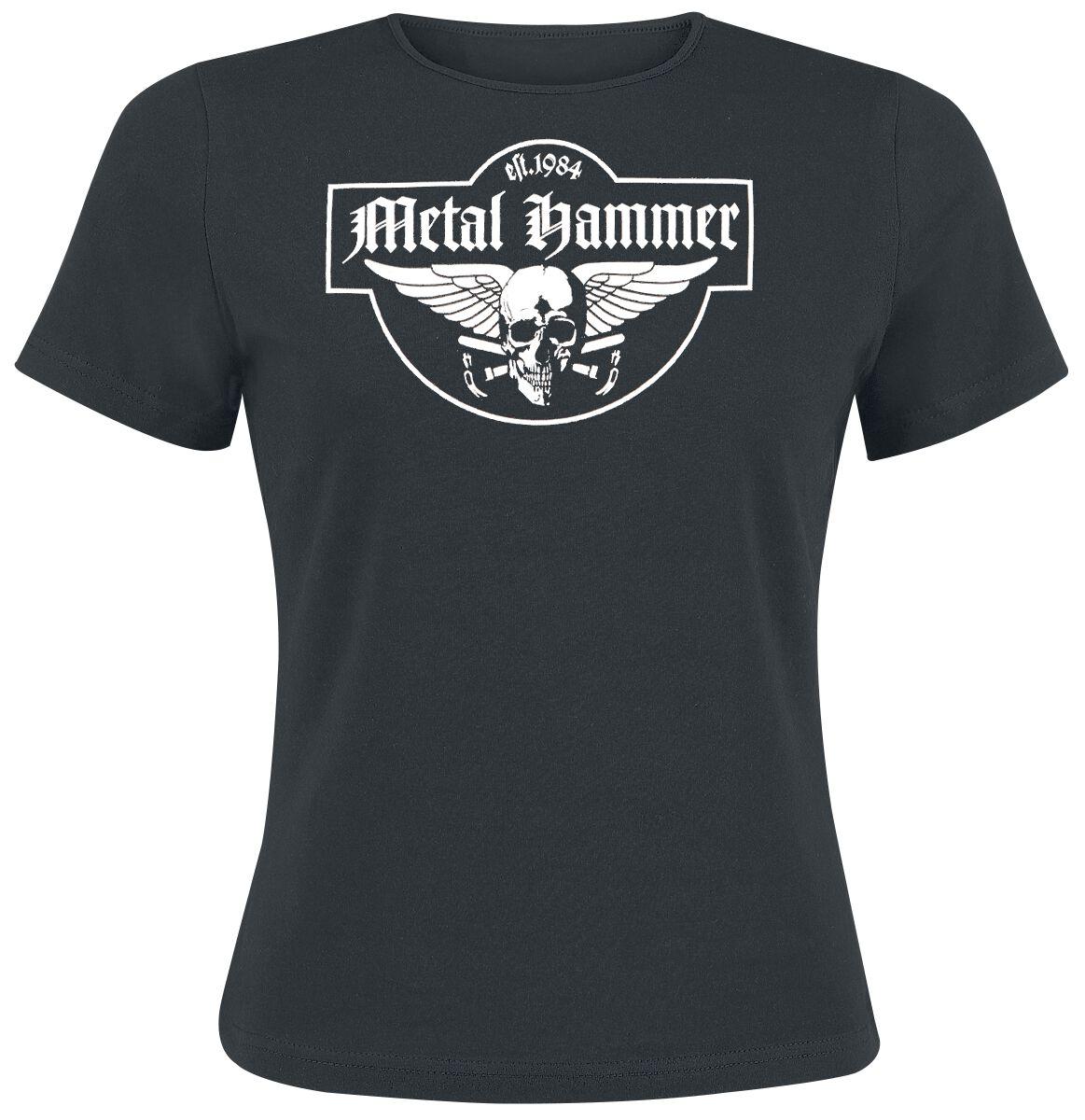 Metal Hammer Skully Koszulka damska czarny