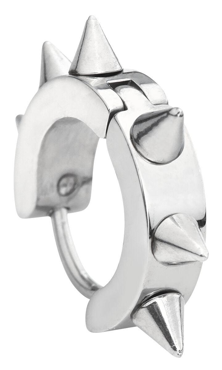 Ohrringe für Frauen - Steel Spikes Ohrring Set silberfarben  - Onlineshop EMP