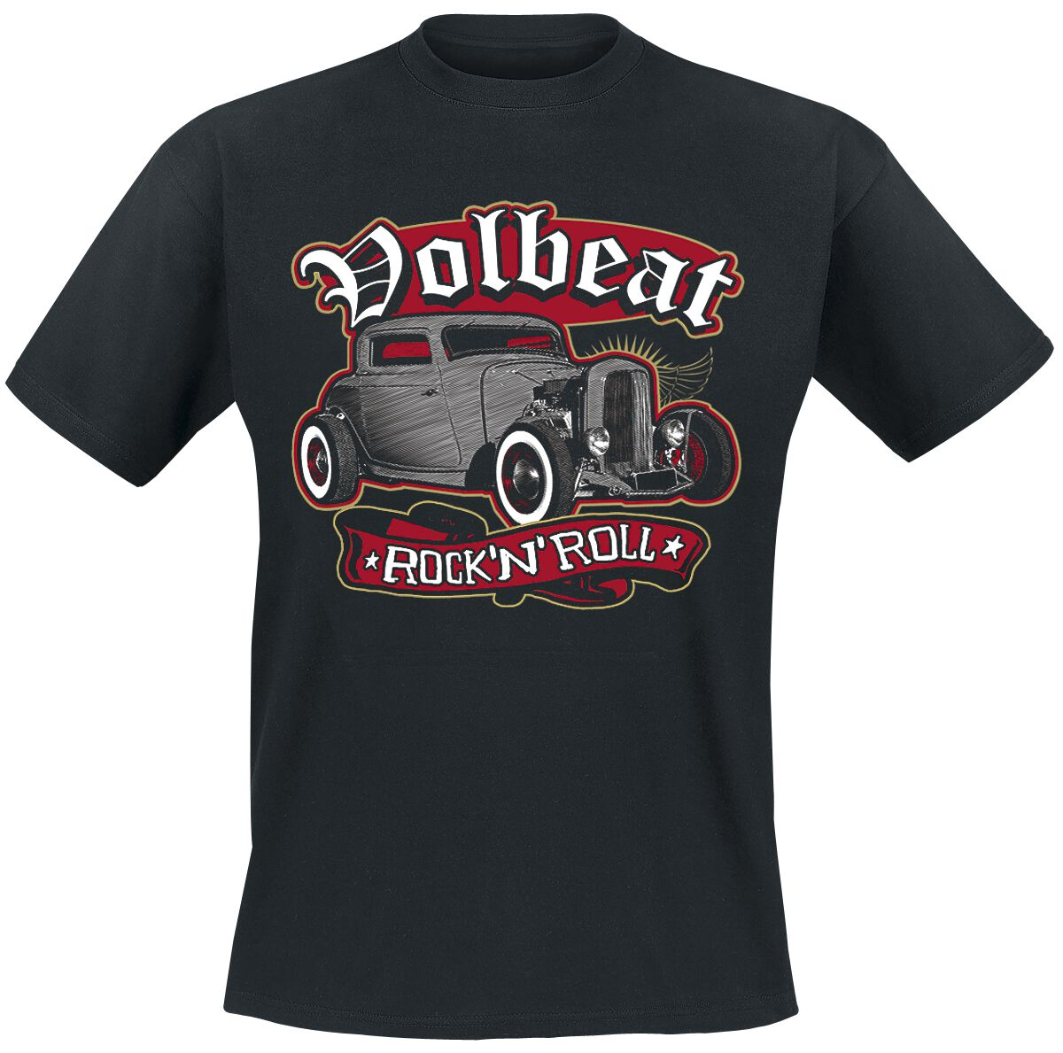 Image of   Volbeat Rock'N'Roll T-Shirt sort