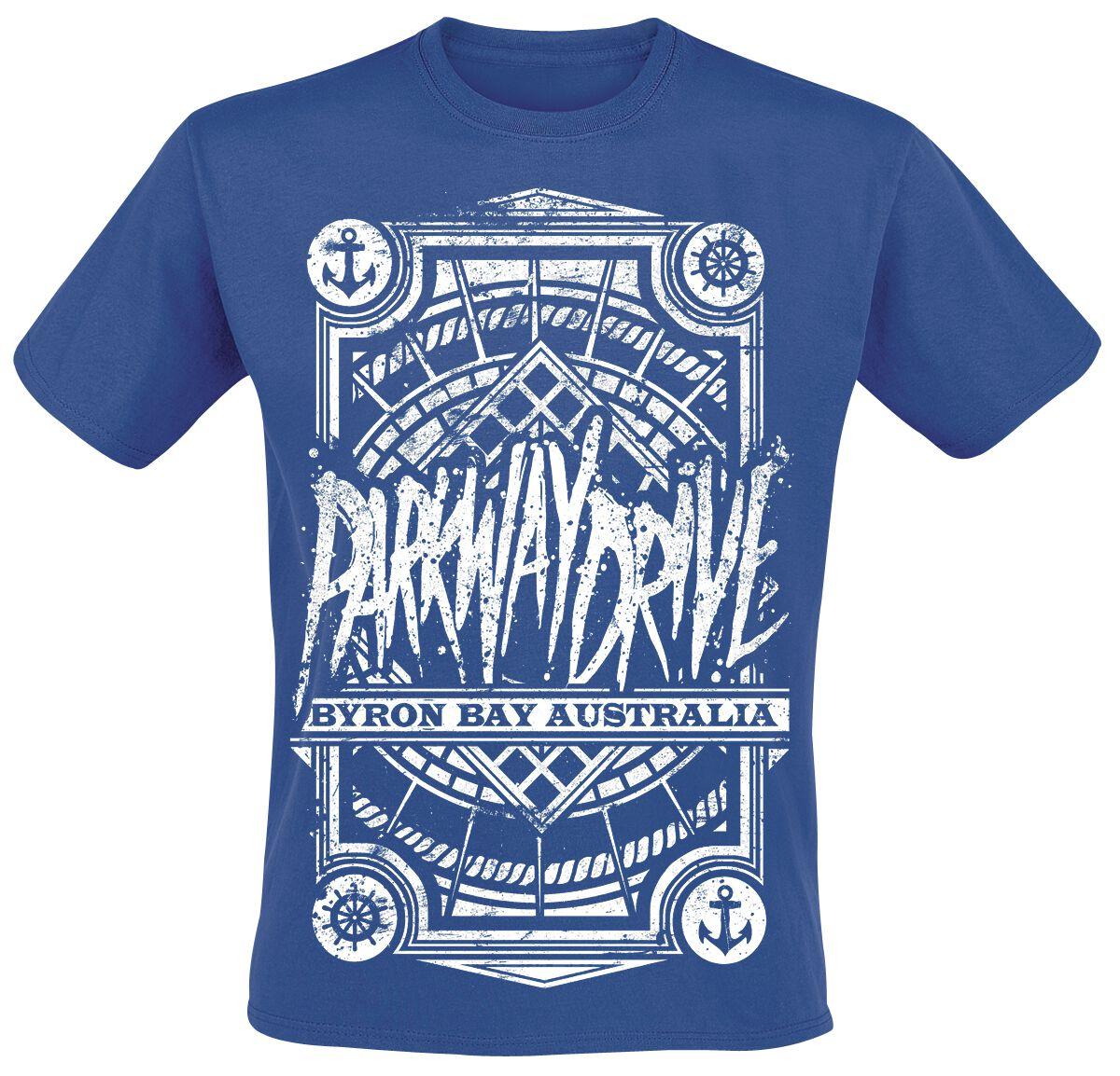 Zespoły - Koszulki - T-Shirt Parkway Drive Byron Bay T-Shirt błękitny - 243493