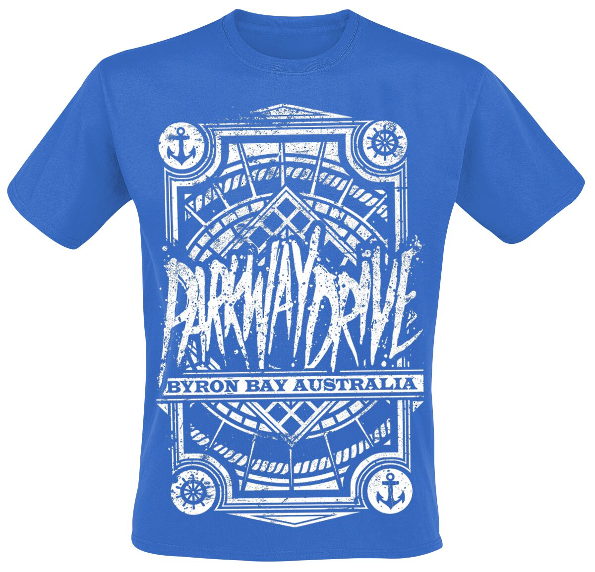 Image of   Parkway Drive Byron Bay T-Shirt royal blå