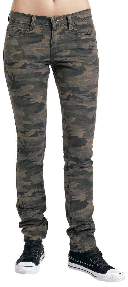 Image of   Forplay Skarlett Girlie bukser camouflage