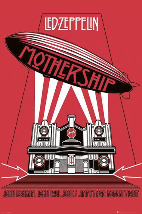 Image of   Led Zeppelin Mothership Plakat Standard