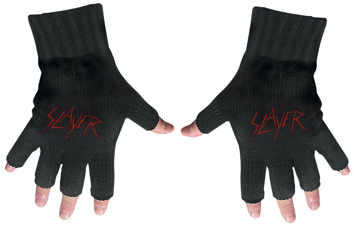 Image of   Slayer Logo Fingerløse handsker sort