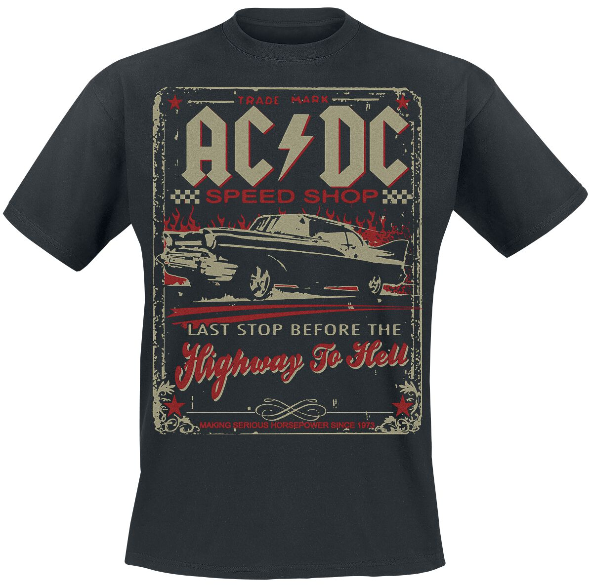 Image of   AC/DC Highway To Hell - Speed Shop T-Shirt sort