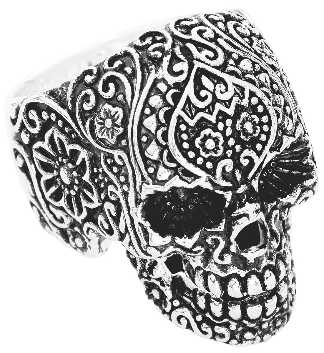 Image of   Wildcat Skull Tattoo Ring Standard