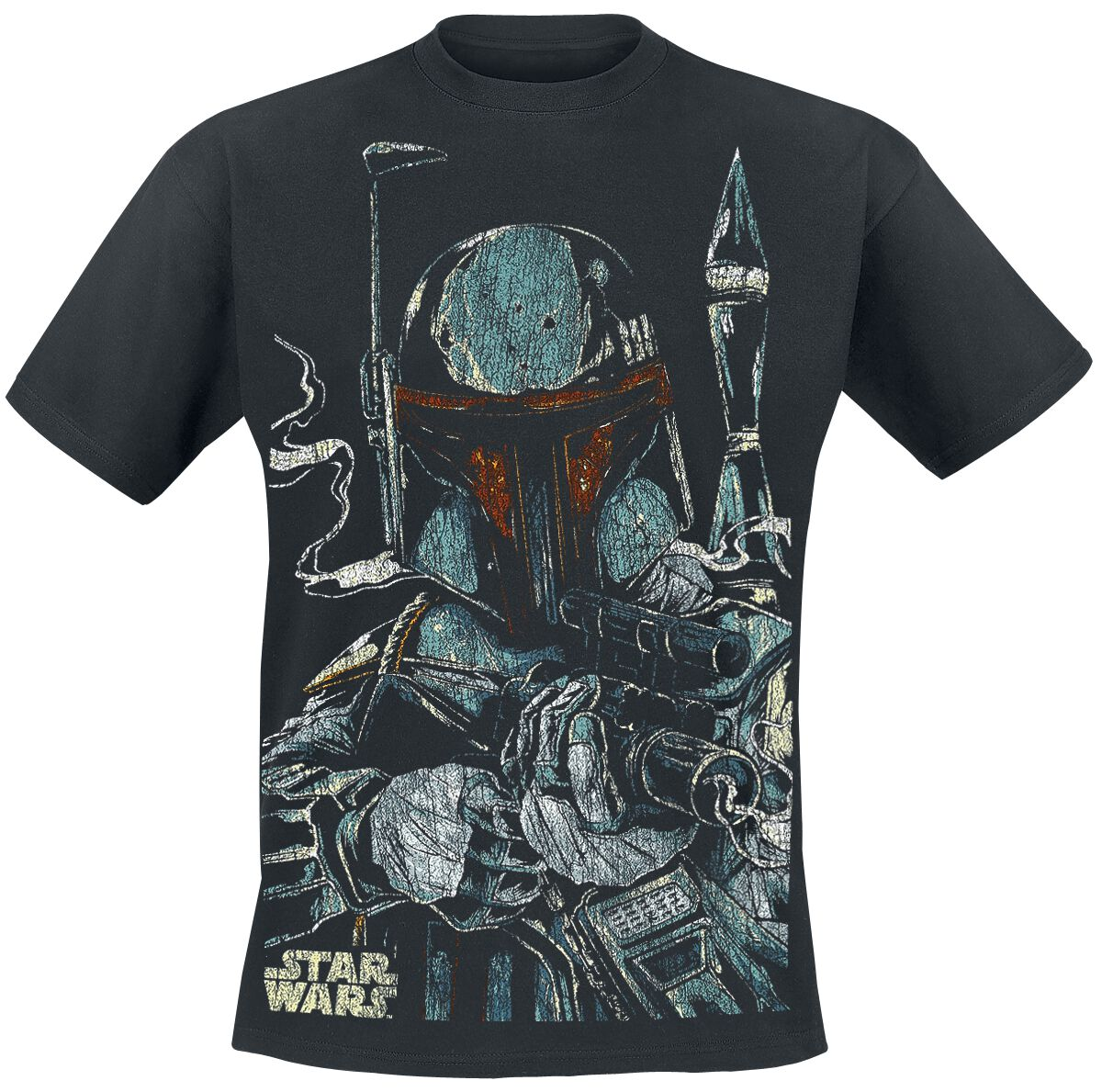 Image of   Star Wars Boba Fett T-Shirt sort