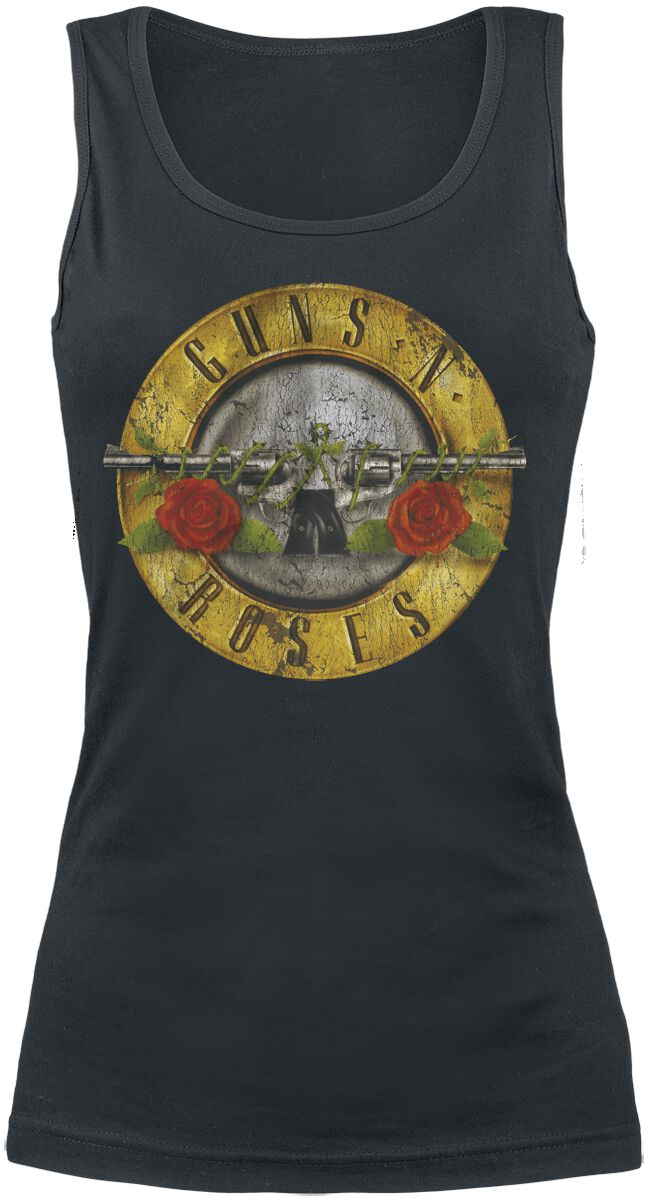 Guns N´ Roses Distressed Bullet Girl-Top schwarz