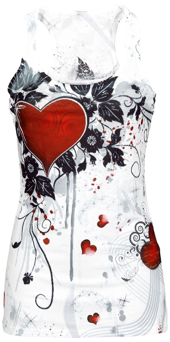 Image of   Innocent Rose Heart Girlie top hvid