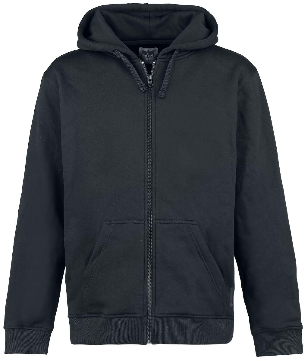 Image of   Black Premium by EMP Basic Zipper Hættejakke sort