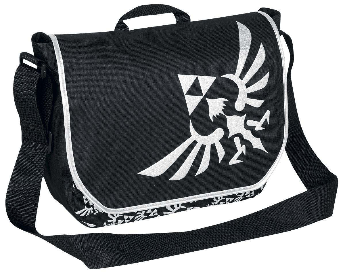 Image of   The Legend Of Zelda Logo Budtaske sort-sølv