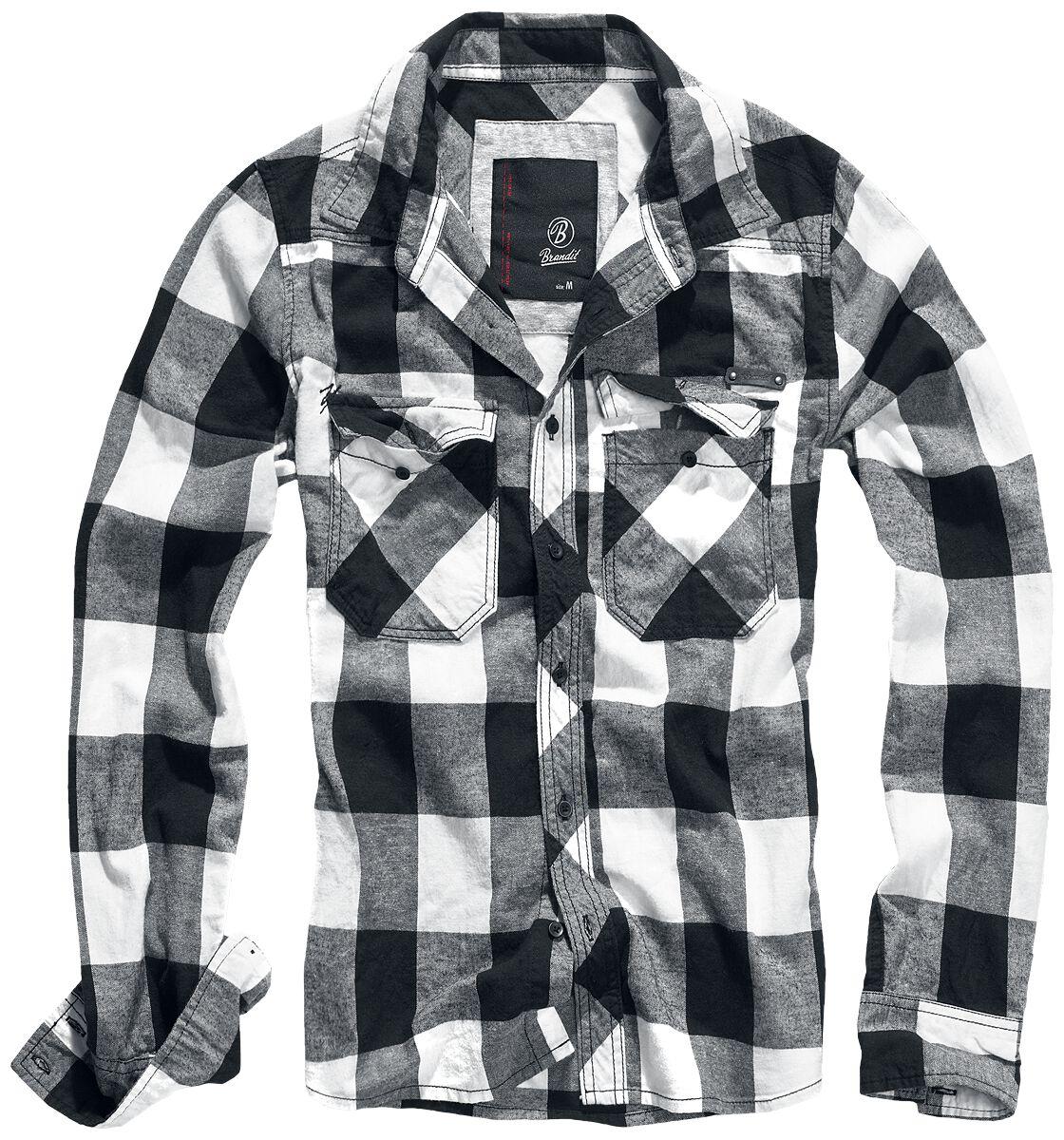 Image of   Brandit Checkshirt Skjorte sort-hvid