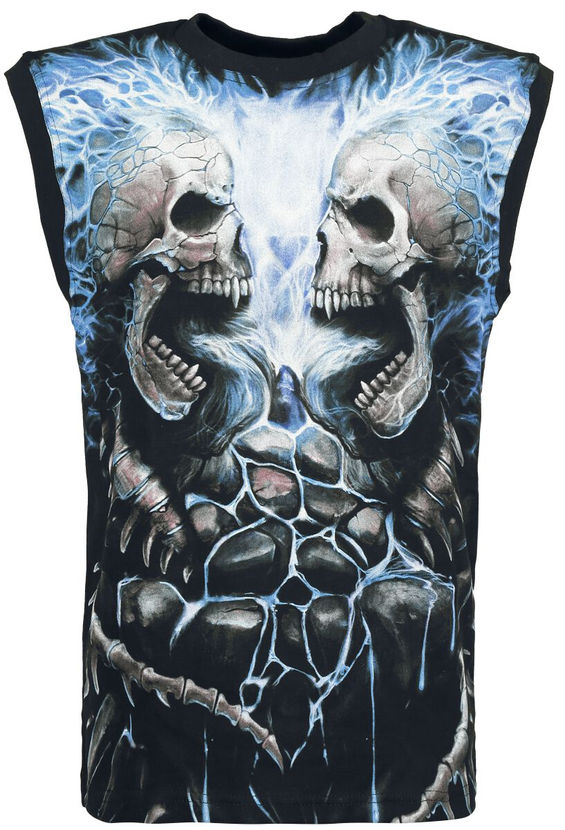 Image of   Spiral Flaming Spine Tanktop sort
