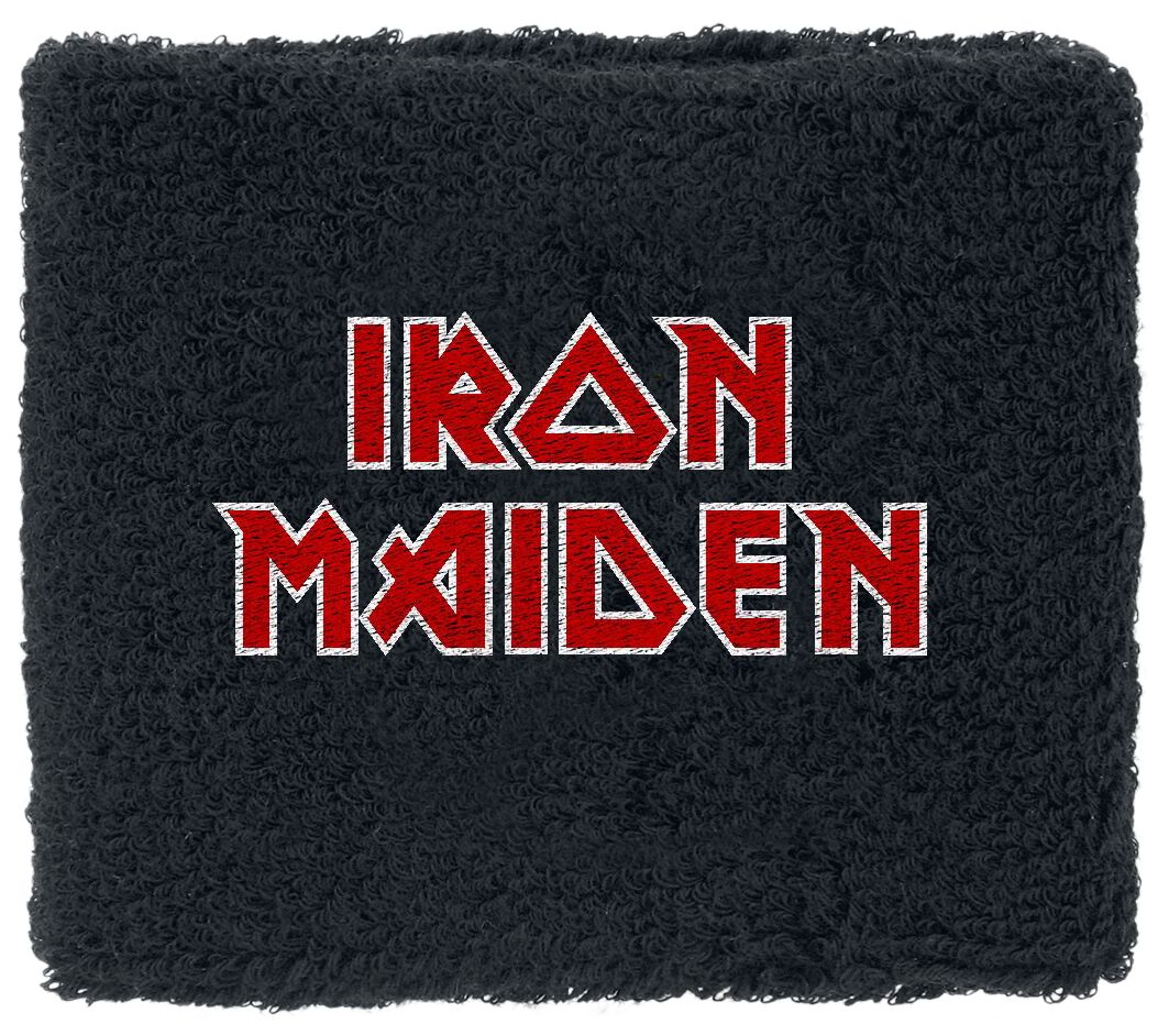 Image of   Iron Maiden Logo Armbånd sort