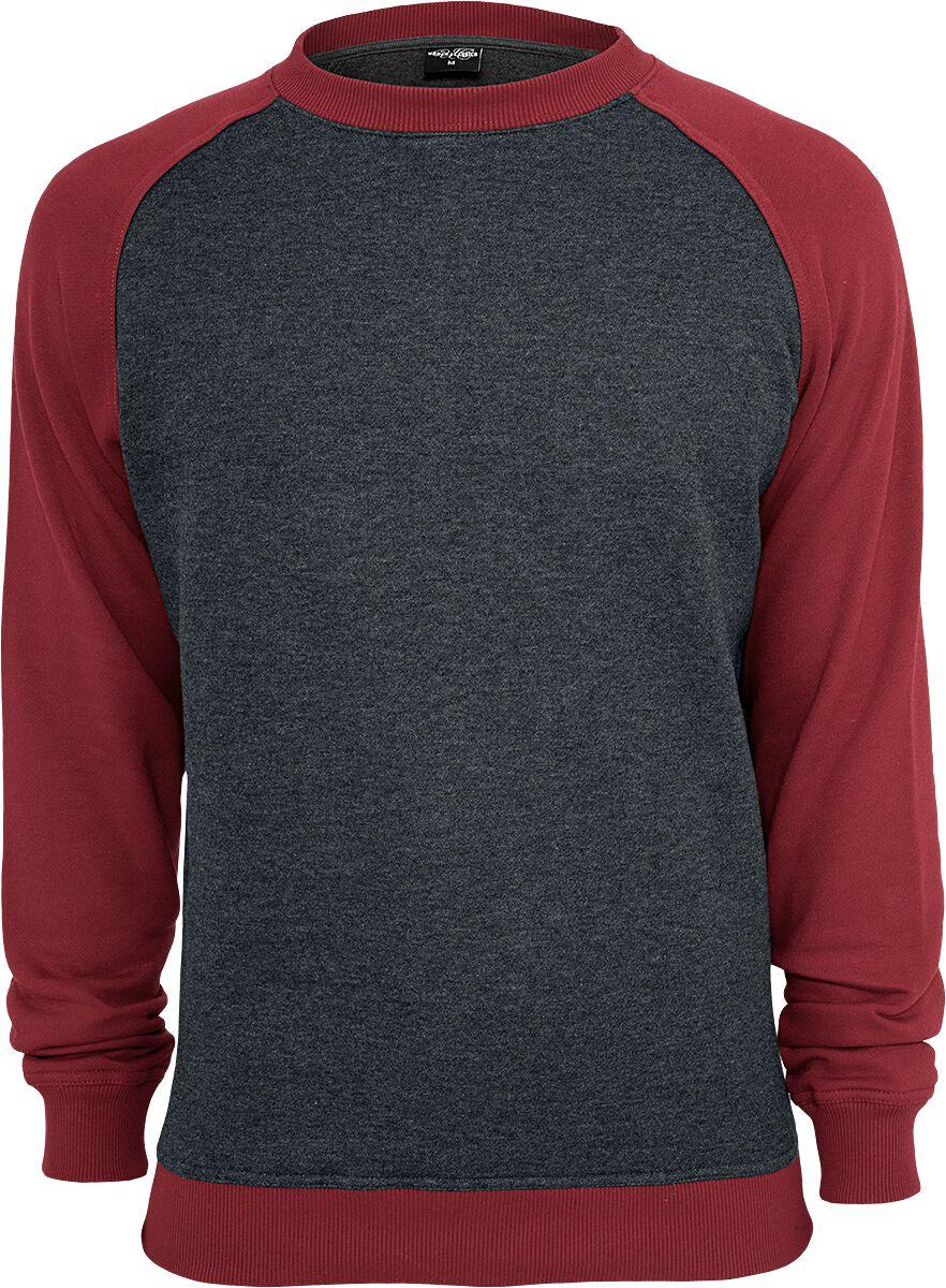 Image of   Urban Classics 2-Tone Raglan Crewneck Sweatshirt koks-rød