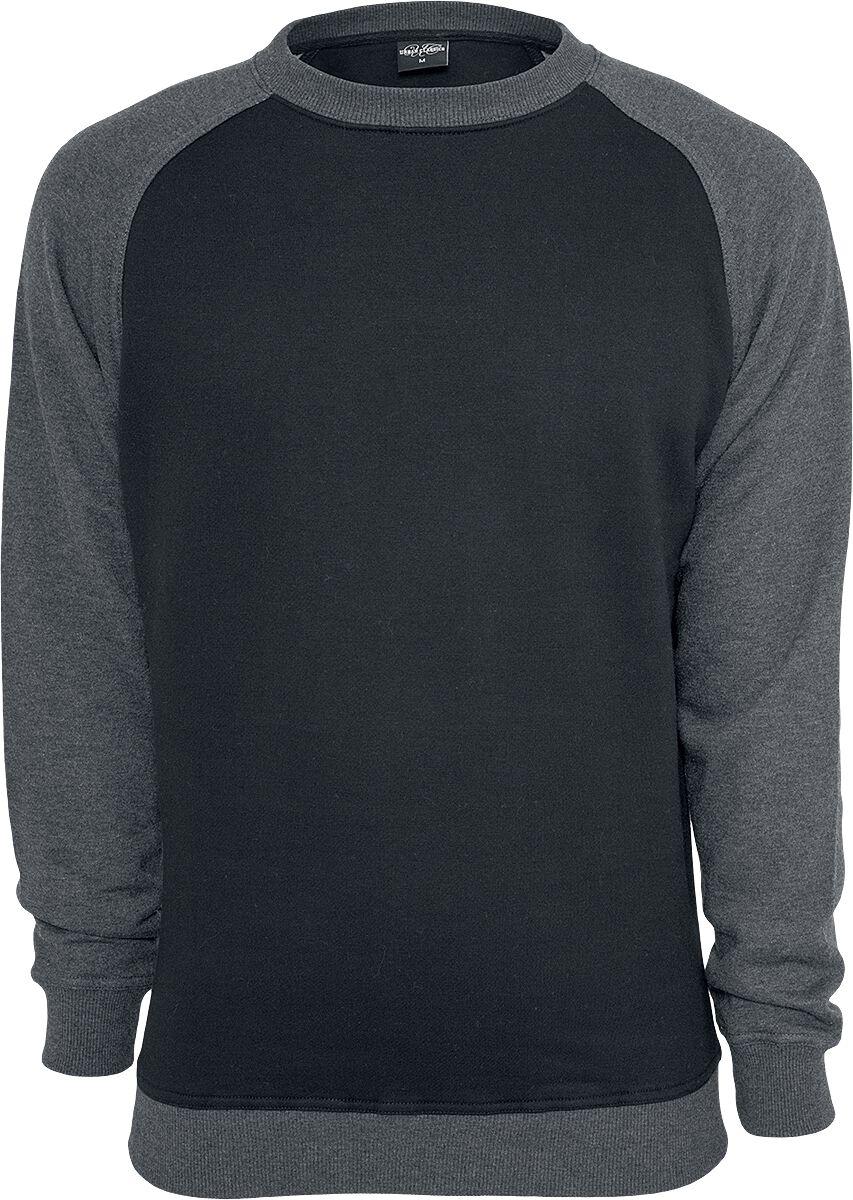Image of   Urban Classics 2-Tone Raglan Crewneck Sweatshirt sort-koks